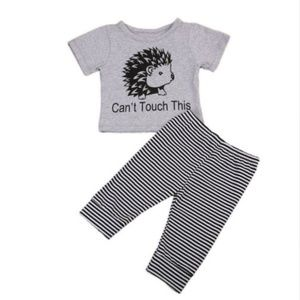 """Other - """"Hedgehogs"""" unisex outfit. 6, 12 mo."""
